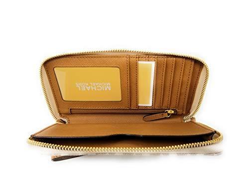 e532dcd44463 Michael Kors Jet Set Travel Signature PVC Large Flat Multifunction Phone  Case Wristlet