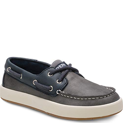 Sperry Top-Sider Cruise Boat Shoe Big Kid 4 Navy/Grey