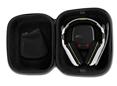 CASEMATIX Protective Gaming Headset Travel Case Bag – Fits ASTRO Gaming A50 , A40 TR , Halo A50 and Microphone with Wired or Wireless Headphones for PC Mac PS4 and XBOX from CASEMATIX