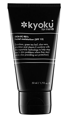 Kyoku For Men Facial Moisturizer SPF 15 | Skin Care For Men That Will Help With Acne Treatment For Men (1.7oz)
