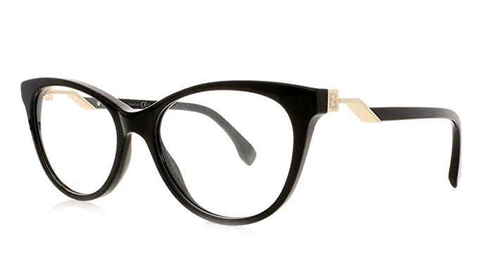 f38e50029c FENDI Eyeglasses FF 0201 0807 Black at Amazon Men s Clothing store