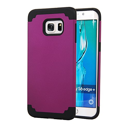 Galaxy S6 Edge Plus Case,SAVYOU 2 In 1Dual Layer Hybrid Gel Shock Absorbing Case Armor Defender Case for Samsung Galaxy S6 Edge Plus(Purple Black)