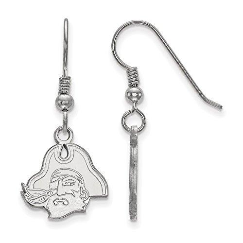 Sterling Silver LogoArt Official Licensed Collegiate East Carolina University (ECU) Small Dangle Earrings by LogoArt