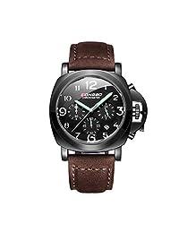 Morrivoe Mens Watches 44mm Dial Analog Date Display Luminous Japan Quartz Wristwatches Gift