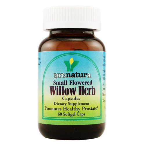 Pronatura Small Flowered Willow Herb, 60 Softgel Capsules (Small Flowered Willow Herb For Prostate Health)