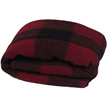 Super Soft and Warm Wool Red/Black Plaid Blanket - Twin Size