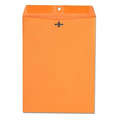 (Universal 35264 Kraft Clasp Envelope, Center Seam, 28lb, 9 x 12, Brown Kraft (Box of 100))