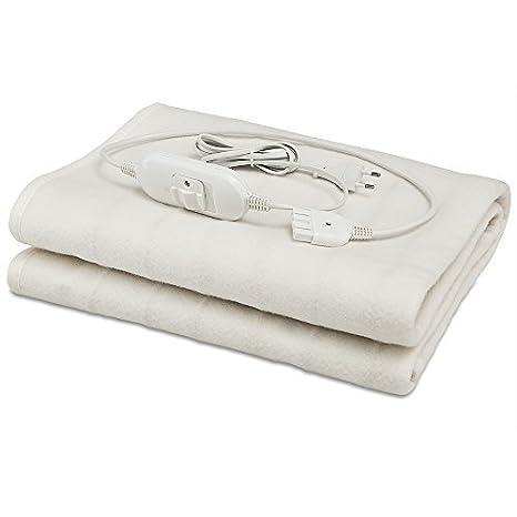 Deuba® Calienta camas | Calienta sabanas | Manta eléctrica de 150 x 80 cm | 3 funciones | lavable a máquina a 40º máximo | Rápido y sencillo |: Amazon.es: ...