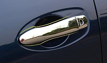 Tapa para manillar de puerta lateral de ABS cromado 8 piezas para Kadjar 2015 2016 2017 accesorios de coche