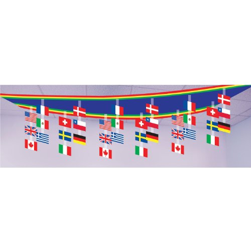 International Flag Ceiling Decor Party Accessory (1 count) -
