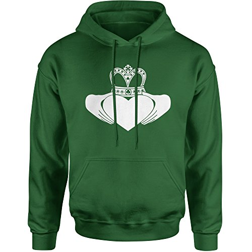 - Hoodie Irish Claddagh St Patricks Day Adult Medium Forest Green