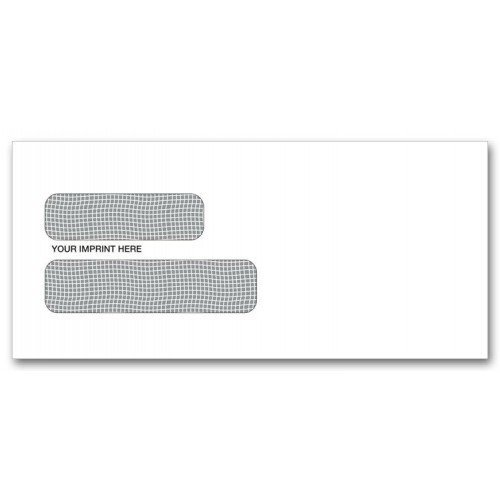 Two Window Envelopes with Peel and Seal Flaps