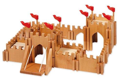 Holztiger Figures Wood Castle with Drawbridge