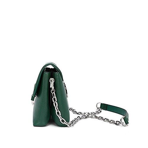 Messager Bracelet MÉTal En À RÉTro Avec BandouliÈRe Sacs Cuir Petit VÉRitable De Sac Femmes Vert BandouliÈRe En E6nw67qOZP