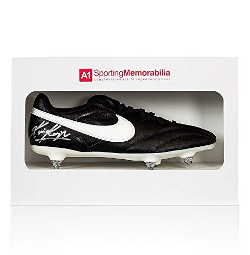 Kevin Keegan Signed Football Boot Nike Gift Box Autograph Cleat Autographed Soccer Cleats