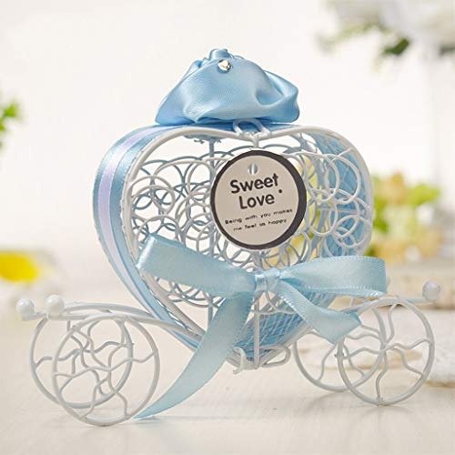 Dirance Romantic Pumpkin car Wedding Wrought Iron Candy Box Sweet Love Wedding Decoration Wholesale Sale Below $5 (5, -