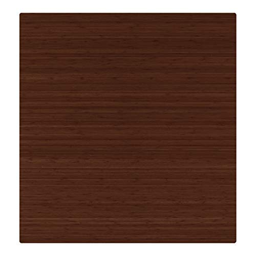 - Anji Mountain AMB24051 Bamboo Roll-Up Chair Mat Without Lip, 52 x 48, 5mm Thick