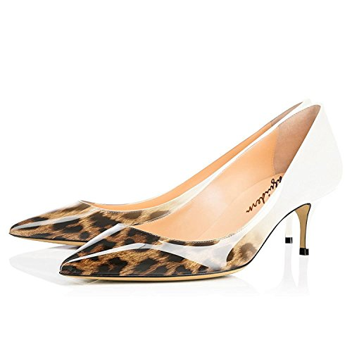 for Pumps Pointed Pumps Toe Leopard Sexy Maguidern High On Women's Shoes Shoes Heels Women Beige Slip FxHHwdY