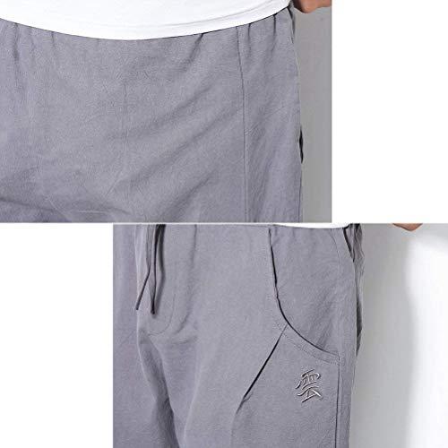 Thai Maschio Navy Blue Loose Men Harem Leisure Giovane Lino Pantaloni Aladdin Streetwear Hippie Traspirante Mens Boho Pants Teens qUMGzVSp