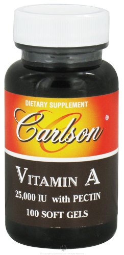 Carlson Labs Vitamin A with Pectin, 25000 IU