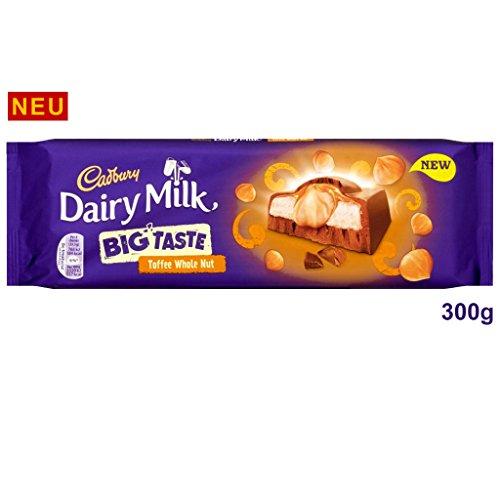 Cadbury Dairy Milk Big Taste Toffee Whole Nut Chocolate Bar