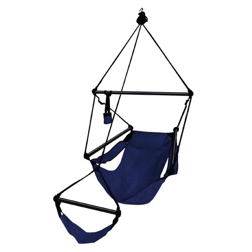 Hammaka Hanging Hammock Air Chair, Aluminum Dowels, Blue