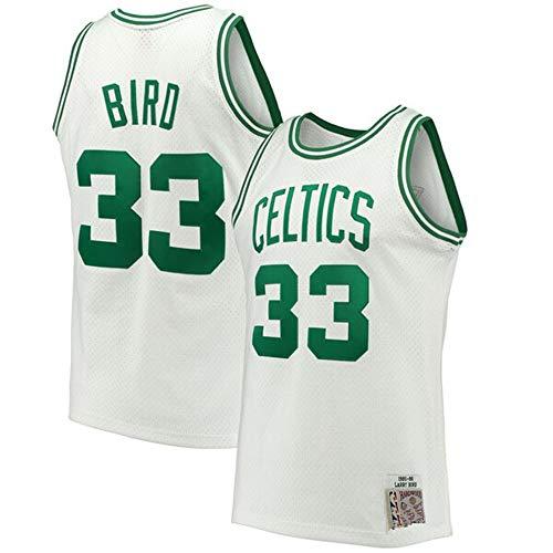 Colrlel Men's #33_Larry_Bird_Boston_Celtics_White 1985-86 Hardwood Classics Swingman Jersey (XL)