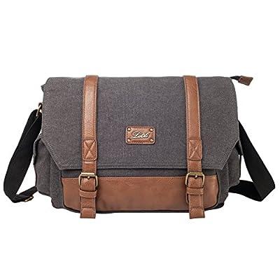 La Cle PU leather Canvas Water-proof Cosmetic Crossbody Bag Handbag Tote Purse Clutch