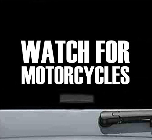 Watch for Motorcycles Vinyl Decal Sticker - Watch Out For Motorcycles Sticker