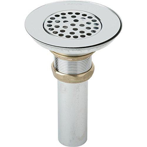 "Elkay LK18 3-1/2"" Drain with Nickel Plated Brass Body, Strainer, and Tailpiece"