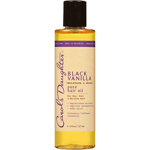 Carol's Daughter Black Vanilla Moisture & Shine Pure Hair Oil For Dry Hair and Dull Hair, with Calendula, Chamomile and Safflower, Silicone Free Hair Oil, Paraben Free, 4.3 Fl Oz (Pack of 1)