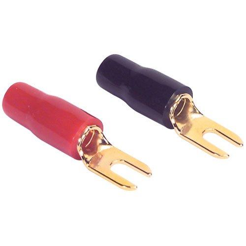 Parts Express Gold Spade Lug Crimp Terminal 8 AWG #6 2 Pair