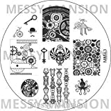MESSY MANSION MM43 Nail Art Stamping Plate - Steampunk Theme