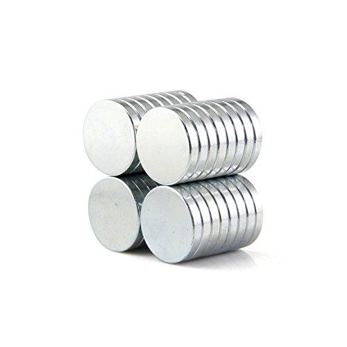 Sunkee 10pcs Pequeño y redondo imanes de disco de diámetro 20x2mm N50 Súper Potente resistente Imán de neodimio de tierras raras de neodimio de neodimio: ...