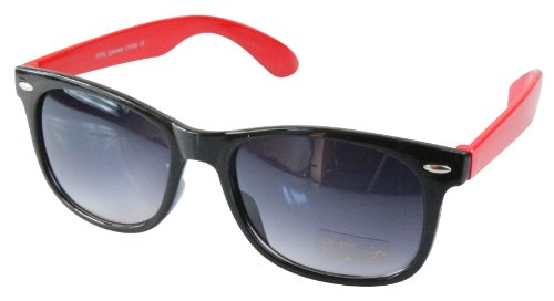 80's couleurs style differentes Lunettes retro Wayfarer Noir de soleil monture Rouge qpZxP8wP