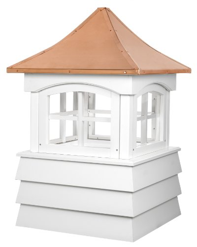 (Good Directions 2130GV Guilford Window Cupola with Pagoda Style Copper Roof and Vinyl Shiplap Base, 30-Inch Square 49-Inch High)