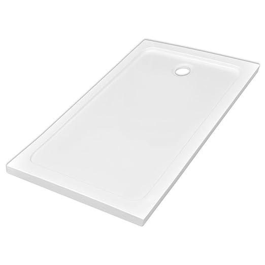 9 opinioni per vidaXL Piatto doccia rettangolare in ABS bianco 80 x 120 cm