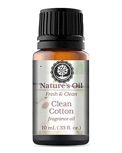 Clean Cotton Fragrance Oil 10ml for Diffuser, Making Soap, Candles, Lotion, Home Scents, Linen Spray and Lotion