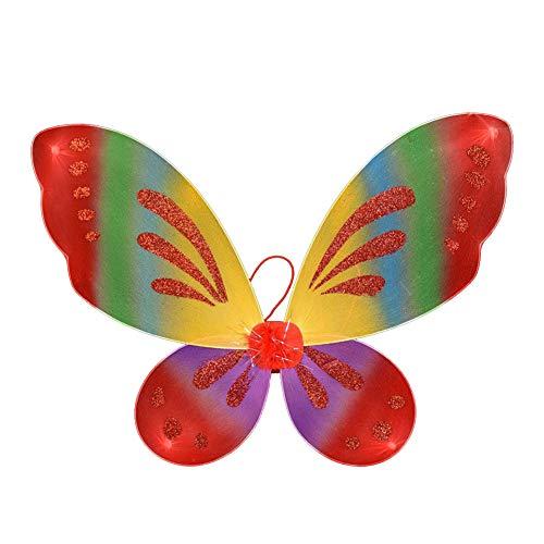 Dushi Fairy Wings Dress up Wings Butterfly Fairy Halloween Costume Angel Wings Kids(Rainbow -