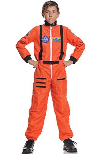 [Astronaut Jumpsuit Costume Size: Medium] (Orange Astronaut Suit)