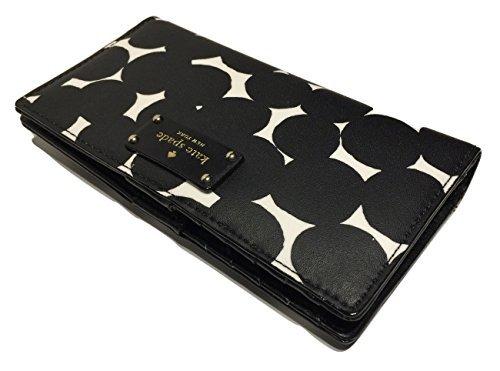 Kate Spade Women's Stacy Grove Street Classic Stripe Leather Wallet, Black Multi