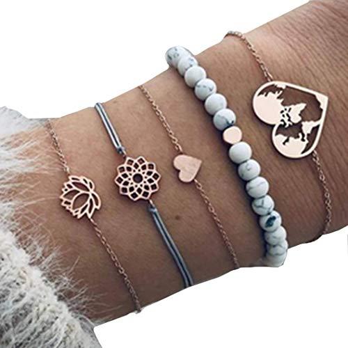 Fashion Bracelet Bead map,Heart Bracelet Charm Bracelet