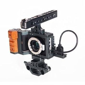 plataforma dslr camera cine kit armadura jaula bmpcc con la parte ...