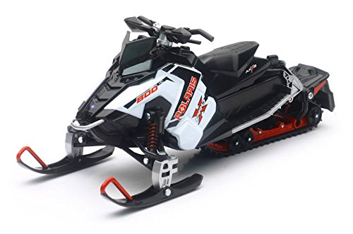 POLARIS SNOWMOBILE WHITE SWITCHBACK PRO-X 800 NEWRAY TOYS# 57783A Orange Cycle Parts by NewRay