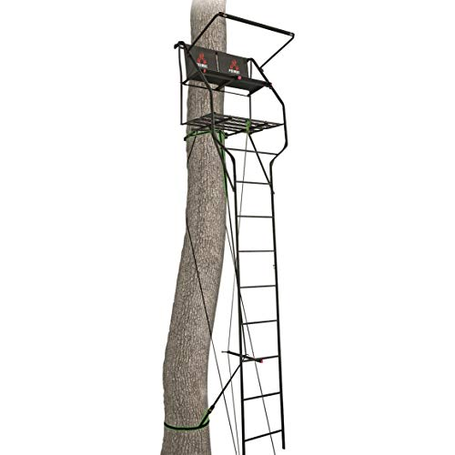 (Primal Tree Stands Double Vantage Deluxe 18' Two-Man Ladder Tree Stand with Jaw and Truss System)