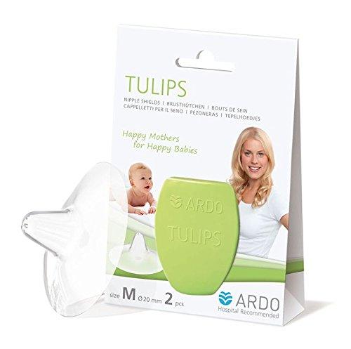 Gr/ö/ße M 20mm/… Ardo Tulips Brusth/ütchen aus Silikon Erleichtert die Ern/ährung des Babys mit Muttermilch Hauchzartes BPA-freies Stillh/ütchen f/ür schmerzende Brustwarzen beim Stillen
