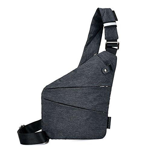 Beatsport - Bolso al hombro de Lona para hombre negro Left shoulder Style Talla única Left shoulder Style