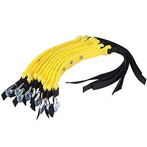 Cocoarm 10 pièces chaînes à Neige de Voiture 185-225mm chaînes de Pneu Anti-dérapant Pneu Anti-dérapant Ceintures de…