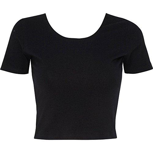 Apparel Spandex Crop Jersey Black American shirt ladies Cotton T Womens RpwOqdP