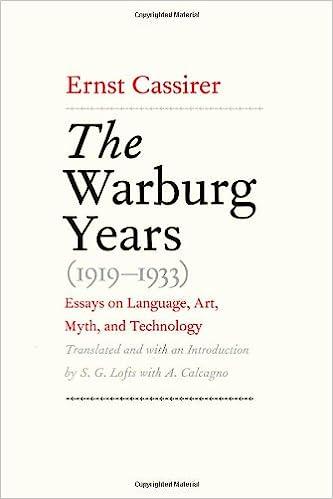 com the warburg years essays on language art  the warburg years 1919 1933 essays on language art myth and technology